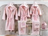 """Halat de baie p/u copii, marimea 2-4 ani """"Maison"""" Pink, 1 buc"""