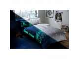 """Set lenjerie de pat fluorescent """"NEW YORK"""" pu 2 pers., 200x220 cm"""