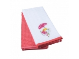 "Set prosoape pu bucatarie""Red chick"" ,40*70cm, 2 pcs"