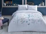 """Set lenjerie de pat """"Alina"""" Albastru, p/u 2 persoane, 200*220 cm, 4 piese"""