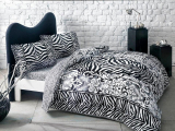 "Set lenjerie de pat ""Jovi"" , negru, p/u 2 pers. 200*220 cm, 4 piese"