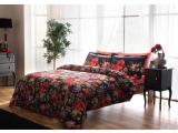 "Set lenjerie de pat Digital satin ""Despina"" p/u 2 pers., 200*220 cm, Floral, 6 pcs"