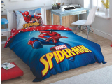 "Set lenjerie pt adolescenti Ranforce ""Spiderman"" , 160*220 cm, 3 piese"