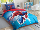 "Set lenjerie pt adolescenti Ranforce ""Spiderman Light"" , 160*220 cm, 3 piese"