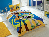 """Set lenjerie pt adolescenti Ranforce """"Toy Story"""" 160*220 cm , 3 piese"""