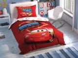 """Set lenjerie pt adolescenti Ranforce """"Disney Cars Shiny"""", 160*220 cm, 3 piese"""