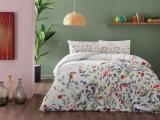 """Set lenjerie de pat Ranforce """"Cherry"""" p/u 1 pers., 160*220 cm, verde, 3 pcs"""